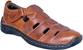 MARDI GRAS Mens Pure Leather Shoe Cum Sandal in PU Sole
