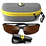 BLUPOND Polarized Sports Sunglasses for Men - Daytime Anti-Glare Copper TAC Lens - Metal Semi-Rimless Frame - Driving Fishing Shooting - Knight Visor