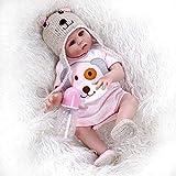 LVYE1 19' Premie Bebe Puppe Reborn Baby Süße Twins in Rosa Und Blau Ganzkörper Weichem Silikon Lebensechte Weiche Baby Puppe Bad Spielzeug Anatom,Rosa
