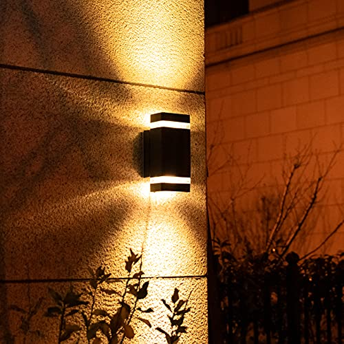 Outdoor Wall Light Waterproof IP54 Up and Down Modern Wall Lamp Grey Suitable for Corridor Courtyard...