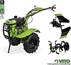 VITO 12PS Diesel E-Starter enkelassige trekker Motor hack direct drive - ploeg + grondsnijder 135cm werkbreedte*