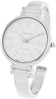 Rosemarie Collections Women's Large Numeral Metal Cuff Watch