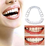 ASBLJ Smile Comfort Fit New Snap On Flex Fits Most Comfortable False Teeth Upper Under Fake Perfect Tooth Cover