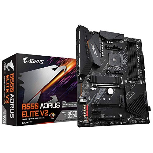 Gigabyte B550 AORUS Elite V2 (AMD Ryzen 3000/B550/ATX/PCIe4.0/DDR4/USB3.2 Gen 1/Realtek ALC1200/M.2/2.5 GbE LAN/HDMI/DP/Gaming Motherboard)