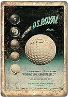 電子米国ロイヤルゴルフボール壁金属ポスターレトロプラーク警告ブリキサインヴィンテージ鉄絵画装飾オフィスの寝室のリビングルームクラブのための面白いハンギングクラフト