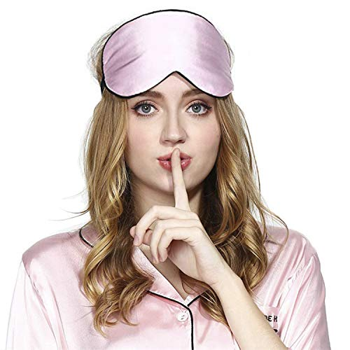 Viedouce Schlafmaske Seide Augenmaske,100% Hautfreundlich Seide Schlafmaske Frauen...
