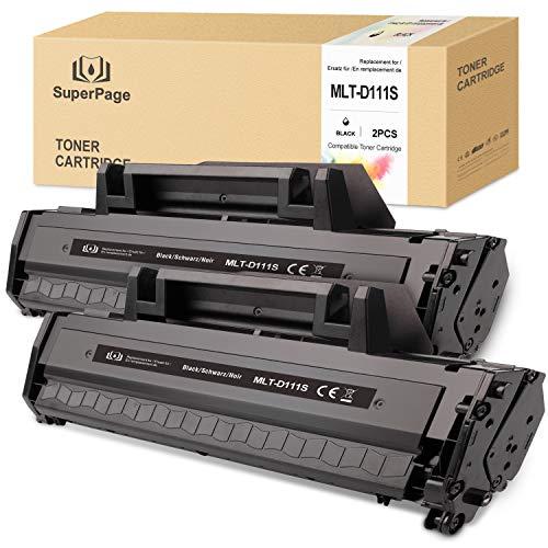Superpage Kompatibel für Samsung MLT-D111S MLT D111S MLTD111S Toner für Samsung Xpress SL-M2070W M2026W M2070 M2026 M2070FW M2020 M2022W M2020W M2022,(Schwarz,2 Packung)