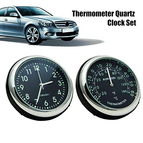 Clip luminoso auto termómetro + reloj, clip automático rel