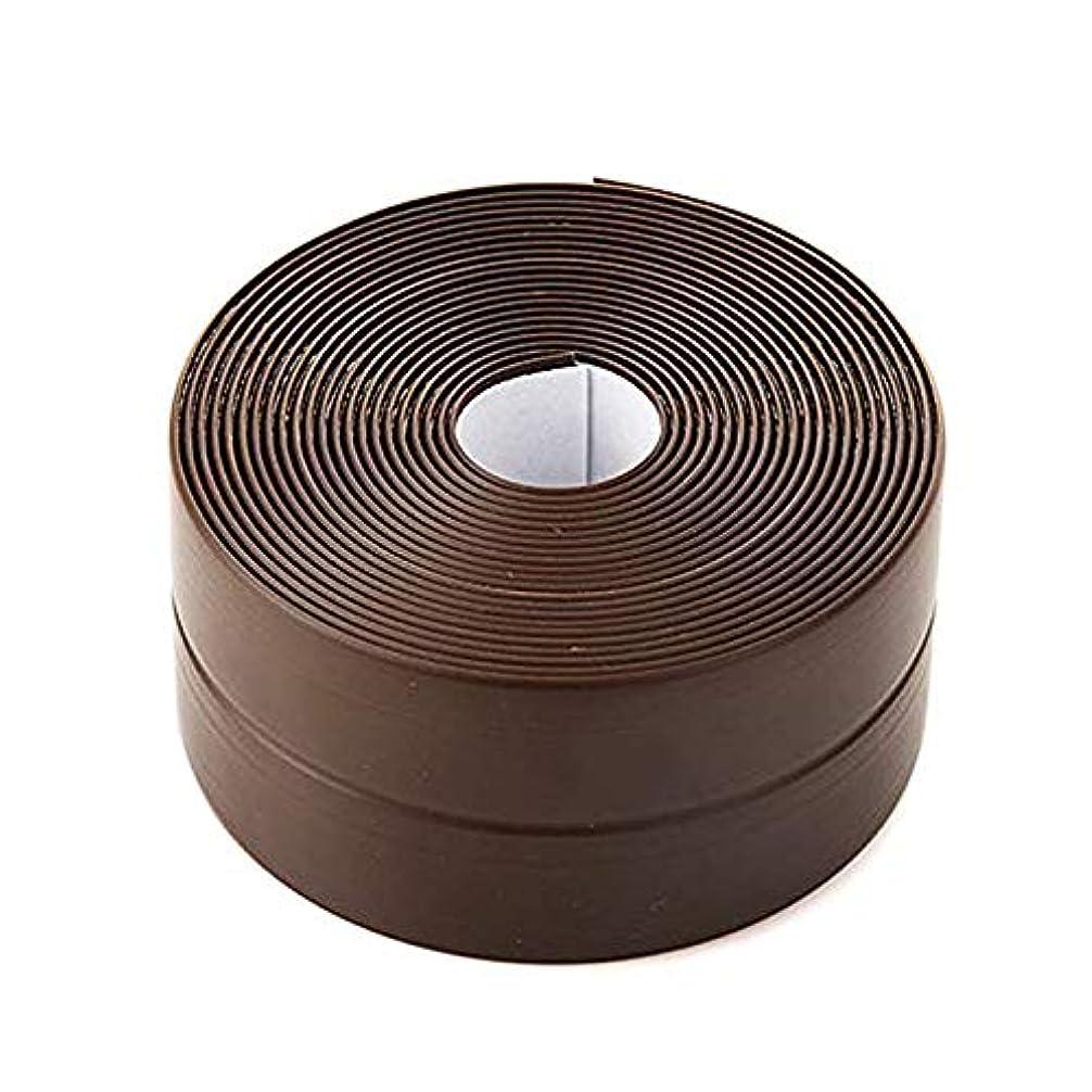 レイプアルバムすり減る補修テープ 防水テープ キッチン 浴室 台所コーナーテープ 自己接着性の防水柔軟なシールテープ 隙間テープ 防カビシンク お風呂 浴槽まわり 防水テープ 隙間テープ PE幅38mm 長さ3.35m (ブラウン)