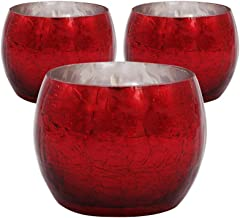 Cocod'or Red Shine Tealight Holder / 3Pack (Tealight not Included)