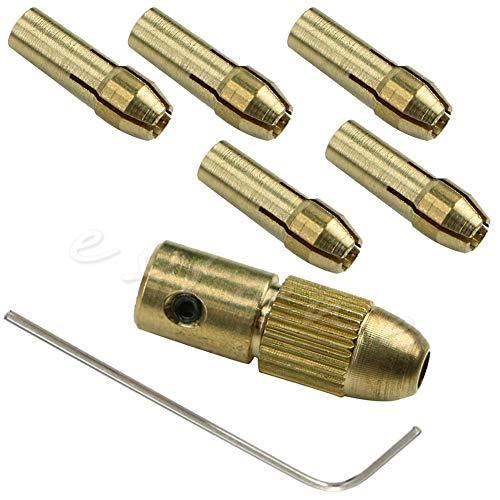 BJLWTQ 7pcs 0.5-3mm Small Electric Copper Drill Bit Collet Micro Board Wood Twist Chuck