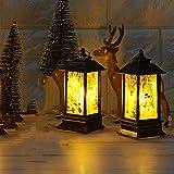 Fuibo Navidad Vela Farol, Decorativa de Navidad Vela con LED Velas de té para decoración navideña Notebook Jardín Decoración para Vela Candelabro Establo Farol