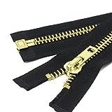 YaHoGa 90 cm #10 Grandi separare Cerniere Lampo Metallo Chiusure Lampo per Jacket Cucire Cappotti Giacca