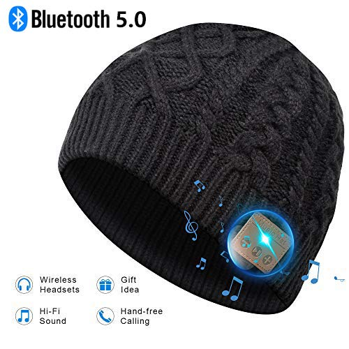 EVERSEE Bonnet Bluetooth Cadeau de Noël - Unisexe Music...
