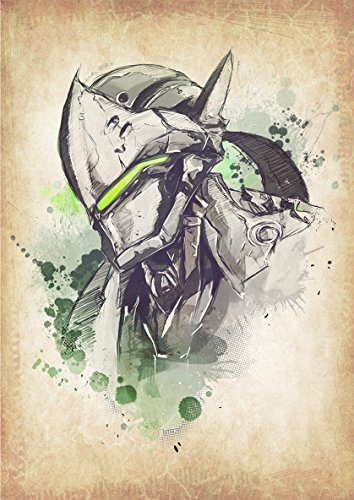 Instabuy Poster Overwatch Wanted Genji - A3 (42x30 cm)