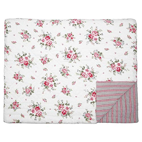 GreenGate - Tagesdecke, Quilt - Elouise - White - Baumwolle - 140x220cm