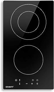 Devanti Electric Ceramic Cooktop 30cm Kitchen Cooker Cook Top Hob Touch Control 3-Zones