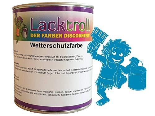Wetterschutzfarbe Lichtblau RAL 5012 Gebindegröße 750 ml