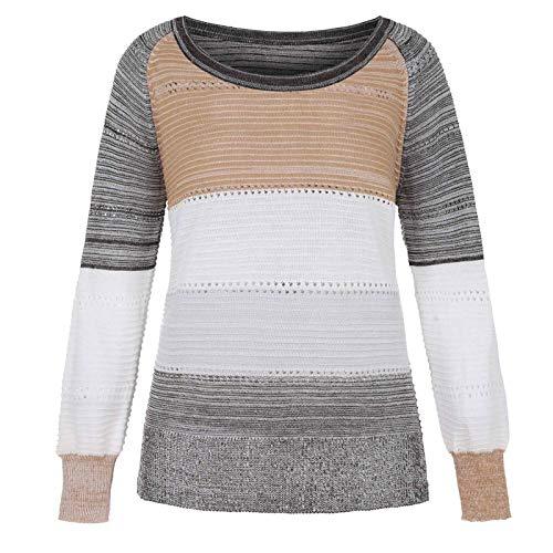 Berimaterry camisetas de punto mujer elegantes blusa de talla grande Suéter de Punto otoño primavera...