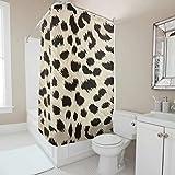 Generic Branded Leopard Duschvorhang wasserabweisend,Anti-Schimmel,Anti-Bakteriell Blickdicht aus Stoff Umweltfre&lich Waschbar Sichtschutz für Zuhause & Hotell