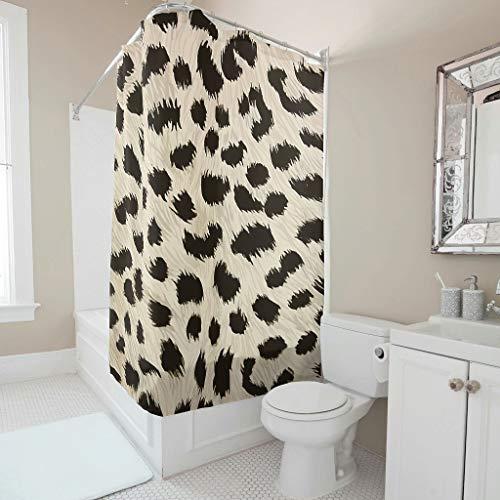 Generic Branded Leopard Duschvorhang wasserabweisend,Anti-Schimmel,Anti-Bakteriell Blickdicht aus Stoff Umweltfreundlich Waschbar Sichtschutz für Zuhause und Hotell