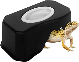 OMEM Small Reptiles Hide Caves, Climb Box Landscaping, Turtles Caves with Water Dish Suitable for Beard Dragons, Lizards, Snakes, Turtles, Spiders