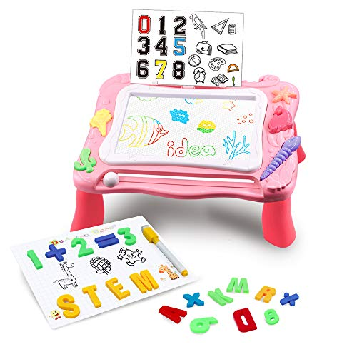 AHCo. Magnetic Drawing Table for Toddlers Kids Doddle Board with Stand Educational Writing Learning...