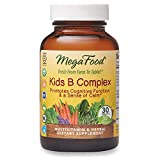 MegaFood, Kids B Complex, Promotes Cognitive Focus and a Sense of Calm, B Vitamin Supplement, Gluten Free, Vegetarian, 30 Tablets (30 Servings) (FFP)