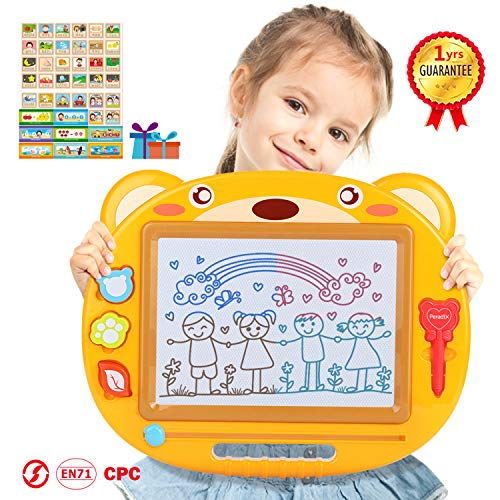 Peradix Magnetic Drawing Board for Kids, 16.9' Large Size Magna Doodle Erasable Writing Board with 6 Color Zones, Educational Toy and Gifts for Kids Age 3+