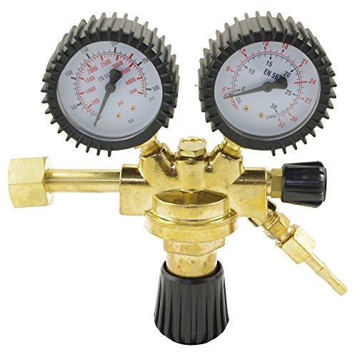 Reductor de presión IPOTOOLS Regulador de presión para equipos de soldadura de argón/CO2 gas inerte a MIG/MAG