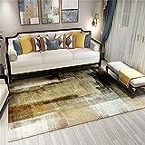 Bedroom Rug Alfombra Pequeña Dormitorio Alfombra teñida de Color Amarillo Alfombra Cocina Tradicional Área de Corredor de la Cocina Desgaste Antideslizante Antideslizante para Alfombras 160x200cm