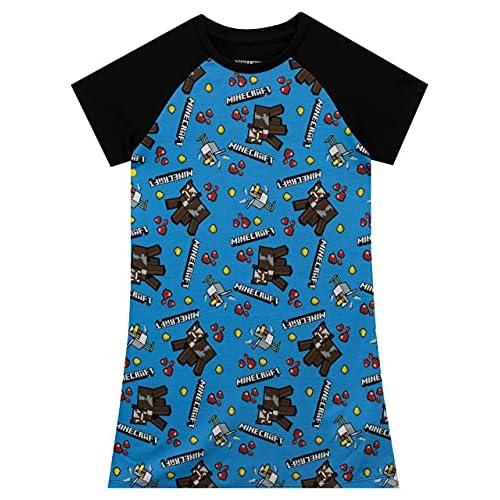 MINECRAFT - Camicia da Notte delle Ragazze 9-10 Anni