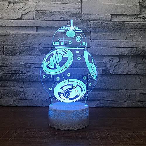 3D Luz Nocturna Venta Caliente Robot Lámpara De Noche 3D Mesa De Dibujos Animados Creativos Lámpara 3D Nuevo Regalo ExtrañoAccesorios De Luz Para Niños