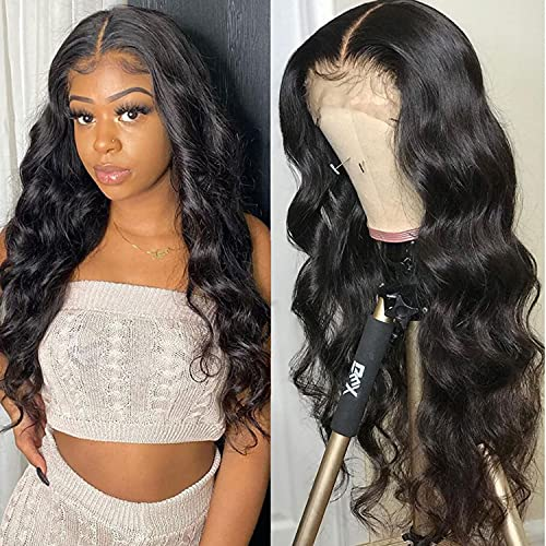 Body Wave Wigs Human Hair Lace Front Wigs 20inch 13x4 Lace Frontal Wigs Human Hair Wigs For Black Women Pre Plucked Natural Hairline Bleached knots