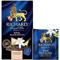 RICHARD(リチャード) ロイヤル・ブラック・ジャスミン 紅茶 ティーバッグ (1.8g*25枚) 1箱 ROYAL BLACK JASMINE Flavoured Black Tea ロシア紅茶