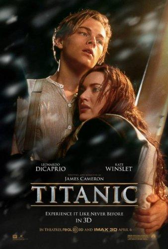 TITANIC 3D Beidseitige Filmplakat ADVANCE Poster (2012) (Leonardo DiCaprio, Kate Winslet, Billy Zane) ORIGINAL-KINOplakat (69cm x 102cm)