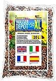 Humusziegel - wasser depot +50 xl grânulos de argila expandida 4-8mm quebrados, como armazenamento de água, contra ervas daninhas e alagamento 10 l