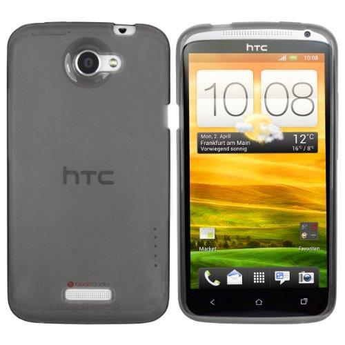 mumbi Hülle kompatibel mit HTC One X Handy Case Handyhülle, transparent schwarz