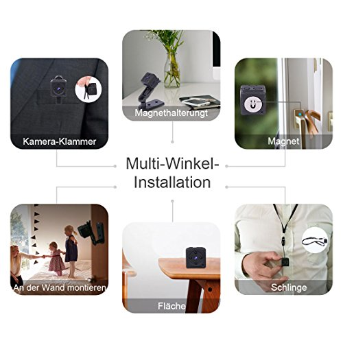 Mini Kamera,NIYPS Full HD 1080P Tragbare Kleine Überwachungskamera, Mikro Nanny Cam mit Bewegungserkennung und Infrarot Nachtsicht, Compact Sicherheit Kamera für Innen und Aussen