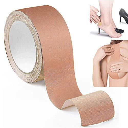 YOUTH BURST Boob Tape Breast Lift Tape Push Up BoobyTape Unsichtbar Verhindern Sie EIN Absacken Der Brust Wasserdicht Und Schweißfest Cropable Sculpt-5M X 6CM,Pink