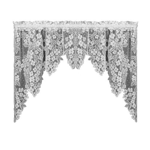 Heritage Lace Dogwood 70-Inch by 38-Inch Drop Ecru Swag Pair