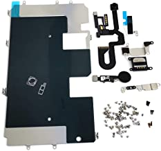 E-REPAIR Screen Assembly Metal Bracket Front Camera Flex Cable Small Parts Set Replacement for iPhone 8 Plus (5.5 inch) (Black)