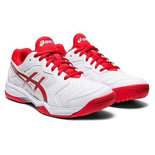 ASICS Gel-Dedicate 6 - Scarpe da tennis da donna, Bianco (Bianco/Rosso Fuoco), 40 EU
