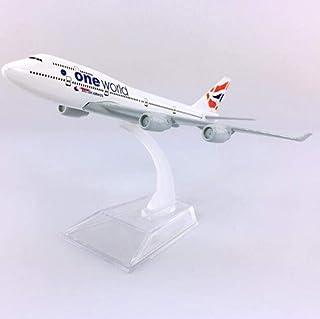 16CMブリティッシュエアウェイズB747モデルの航空および基本的なエアバス金属合金平面フラットコレクションモデル1:400リビングルームの装飾の誕生日プレゼント