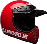 BELL Moto-3 Helmet (Gloss Red - X-Large)