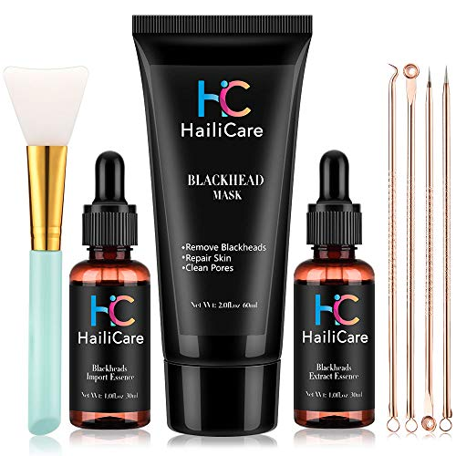 Blackhead Remover Mask with Pores Extract Shrink Essence Acne Blackhead Extractor Tool Set, AFDEAL Peel off Purifying Black Facial Masks Christmas Gift Set for Face and Nose for Both Men and Women