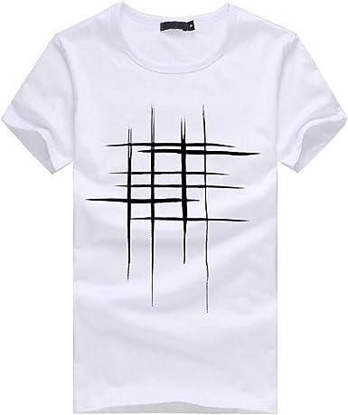 Camiseta con Estampado De De Camisa Hombres Cuello Redondo ...