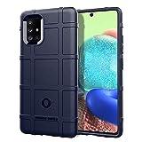 BRAND SET Funda para Samsung Galaxy A71 5G, Cárcasa Silicona Suave Durable TPU Antigolpes Bumper Protector Case Cover para Samsung Galaxy A71 5G-Azul
