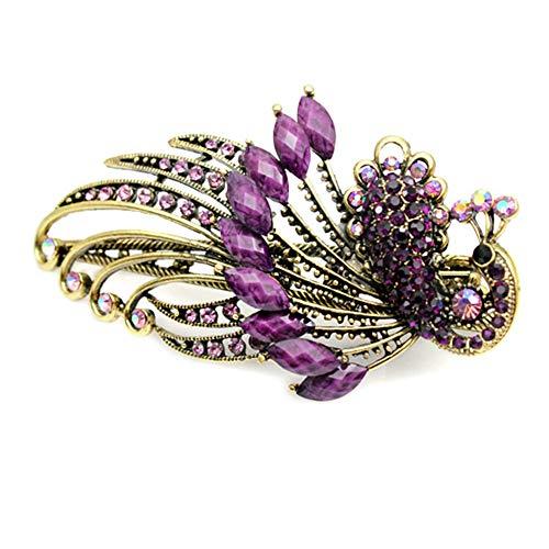Emorias 1pc Accessoires de Cheveux Style de Rétro Bohème Classique Coiffe de Strass Frome de Phoenix pour Mode Femme(Violet)