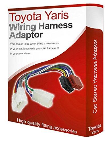 Toyota Yaris CD, radio stéréo Câble adaptateur ISO câble convertisseur Métier à Tisser-Fil